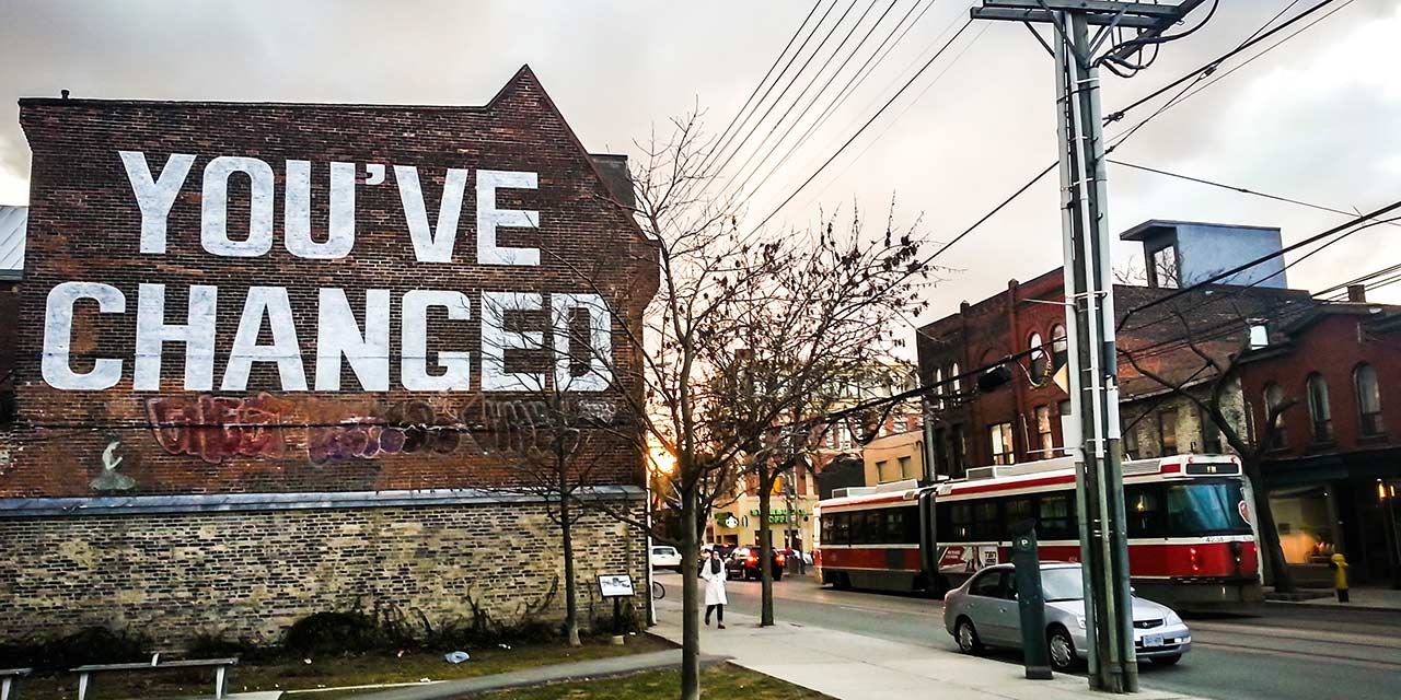 You've Changed mural in Toronto