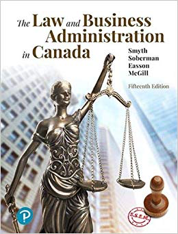 The Law & Business Administration in Canada | Pearson