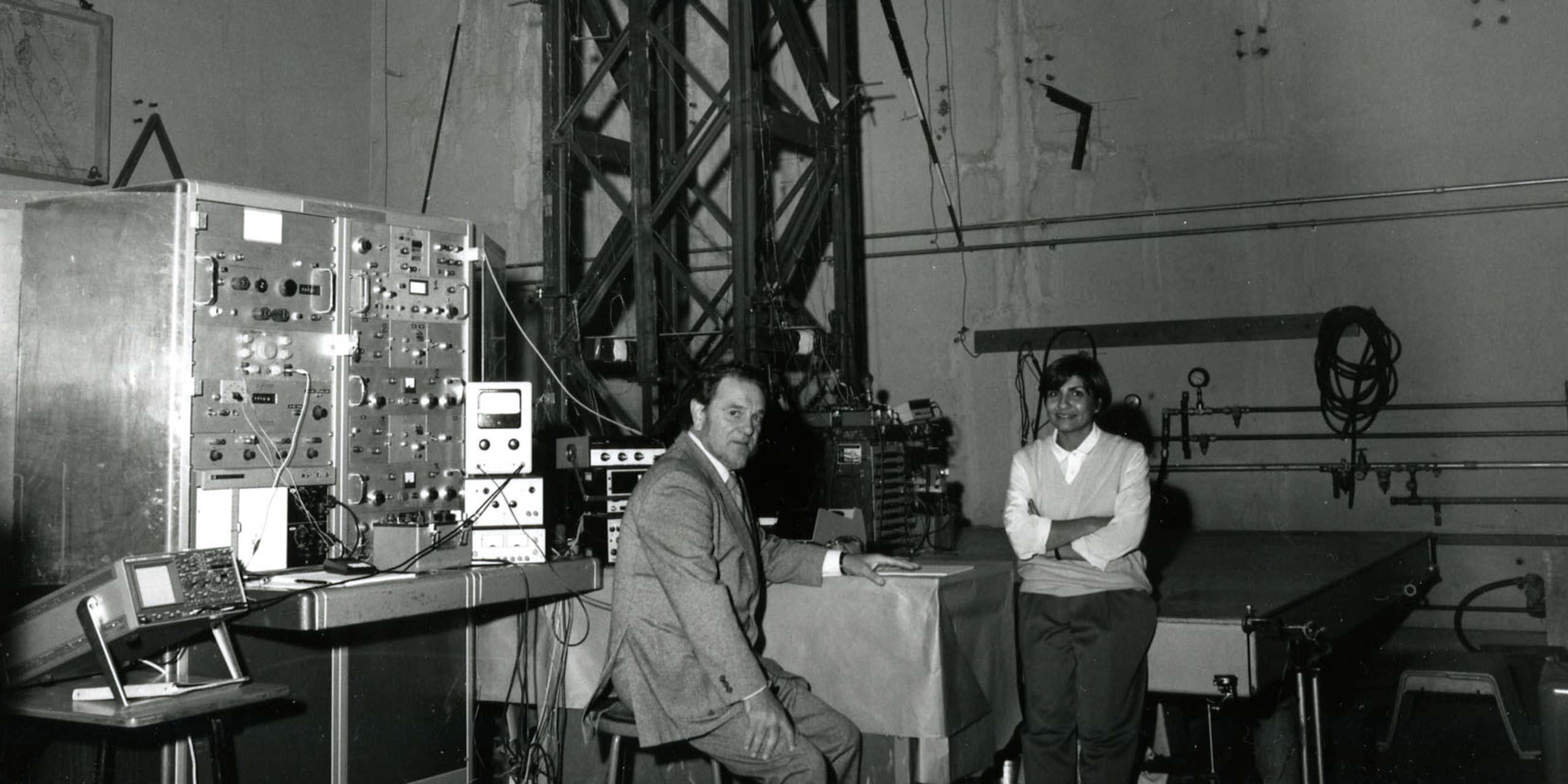 Gina Cody and Cedric Marsh at Concordia in 1985. © Concordia University