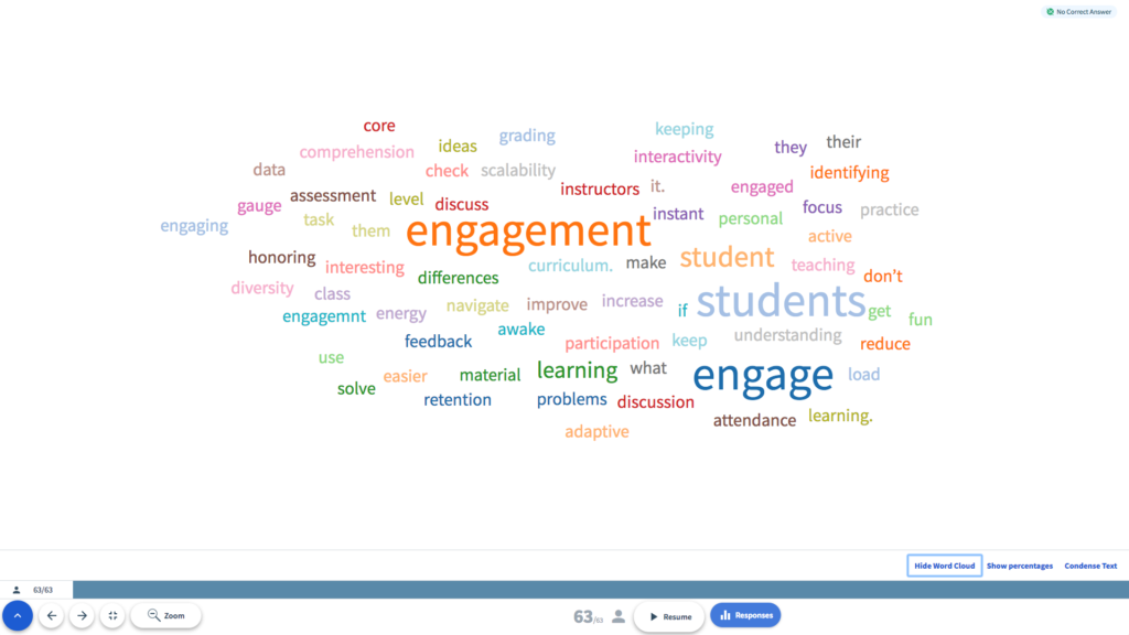 An image of Top Hat's word cloud answer is shown.