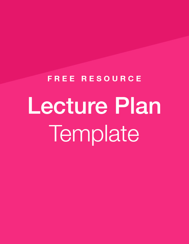 Free Download: Lecture Plan Template and Resources | Top Hat