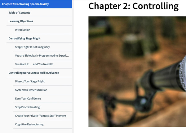 Effective Public Speaking | Reading Assignment: Controlling